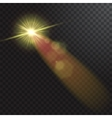 Realistic beam lights on transparent background vector image