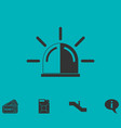 siren icon flat vector image