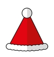 christmas hat decoration isolated icon vector image