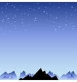 Night sky with star and mountain spike vector image