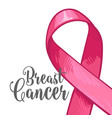 breast cancer awareness month banner poster vector image