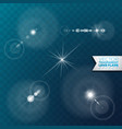 Realistic lens flare light effect on transparent vector image