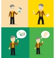 Set of cute cartoon young businessmen Idea vector image