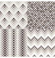 geometric colorful seamless patterns vector image