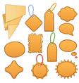 cartoon label tags vector image