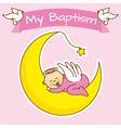girl baptism vector image