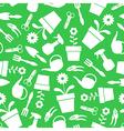 garden pattern green vector image vector image