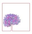 Spring flowering tree vector image vector image