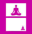 yoga lotos sign template vector image