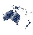 Australia continent vector image