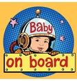 baby on Board astronaut vector image