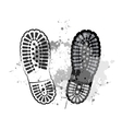 black trail foot vector image