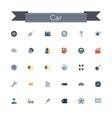 Car Flat Icons vector image