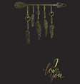 golden luxury boho elements vector image