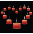 pink candles vector image