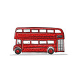 red bus sketch for your design vector image
