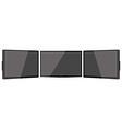 Three black monitors vector image