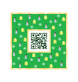 QR code Merry Christmas vector image