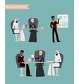 Arab Business People Meeting vector image