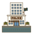 police station icon image design vector image