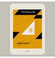 Abstract ui template with Tablet PC on triangular vector image