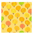 Autumn trees seamless patt vector image