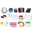 collection of stationery vector image