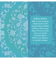 Beautiful wedding invitation brochure vector image