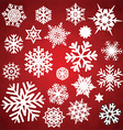 Christmas snowflakes and stars collection vector image vector image