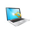 laptop lock vector image