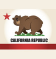 Cartoon california flag vector image