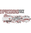 expressive word cloud concept vector image