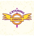 logo for catering restaurant eventos vector image