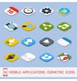 Mobile applications isometric icons vector image
