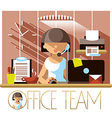 Office Team Support vector image