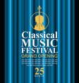 poster for classical music festival with violin vector image vector image