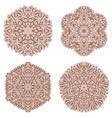 set of four mehandi ornaments vector image