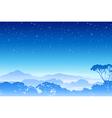 A Misty Forest Landscape vector image