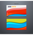 Modern business card with waves vector image