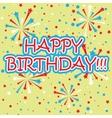 Firework birthday background vector image