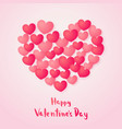 happy valentines day greeting card red paper vector image