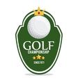 ball icon Golf sport design graphic vector image