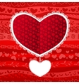Love Valentines Day Wedding Heart Card vector image