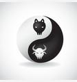 Ying Yang bulls vector image vector image