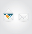 Open and close envelope with email vector image vector image