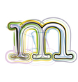 Organic Font letter m vector image vector image
