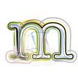 Organic Font letter m vector image