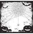 halloween background bw vector image