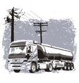 Liquid truck vector image