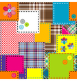 Background made of colored sewed patches vector image